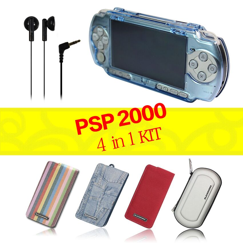 3DS & PSP3000 Protective Kit (One PSP Crystal case shell cover + One travel pouch carry EVA Earbud) - Blackhorns Game Accessories Supplier store
