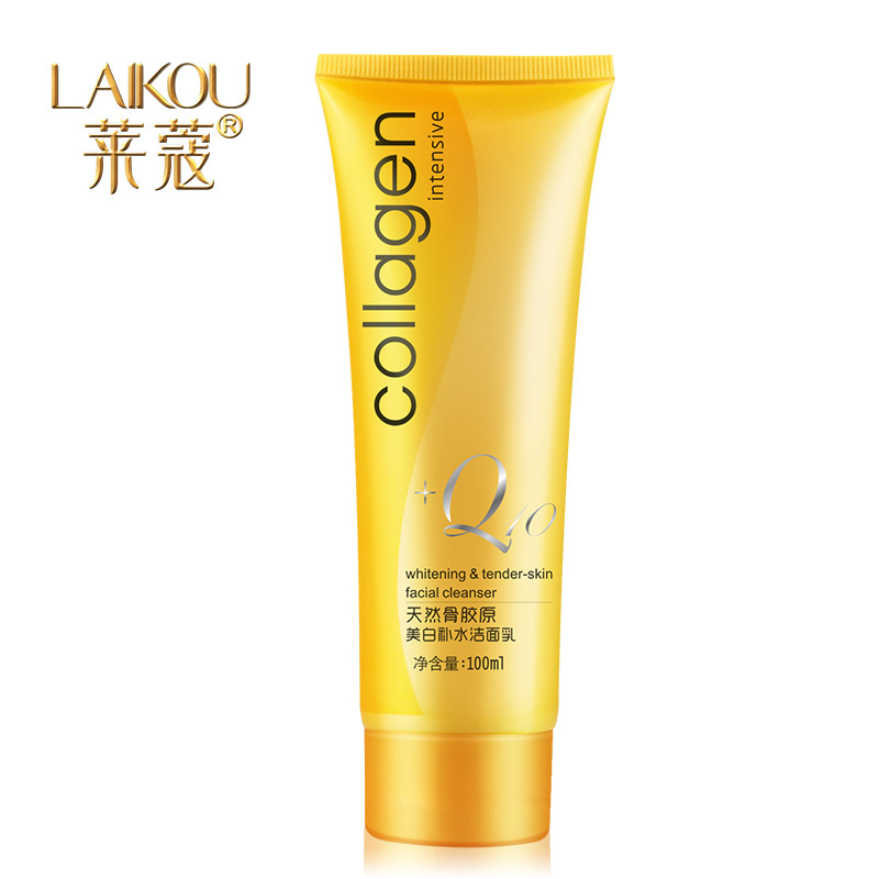 New arrival Collagen Whitening & Moisturizing Cleanser Deep Cleansing exfoliating and cleansing facial cleanser foam(China (Mainland))