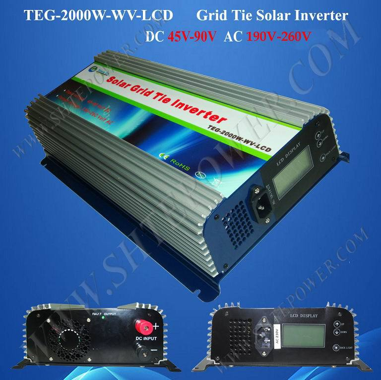DC 45-90v to AC 220v 230v 240v input 2000w pv grid tie solar inverter(China (Mainland))