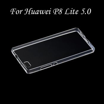 Clear Transparent TPU Gel Rubber Soft Silicone Case For Huawei P8 Lite 5.0 Cover Ultra Thin Protective Skin Cover Coque Funda