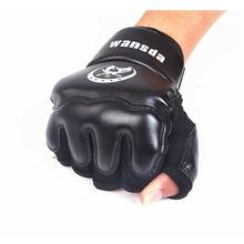 Adults/Kids Half Fingers Boxing Gloves Luva De Boxe Muay Thai/Boxeo/MMA/Taekwondo Sandbag Punch t0261DTH(China (Mainland))