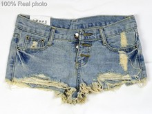 2016 Hot Sale Denim Women Vintage Shorts Sexy Summer Hole Ripped Shorts Jeans Plus Size High Waisted Jeans Short Feminino