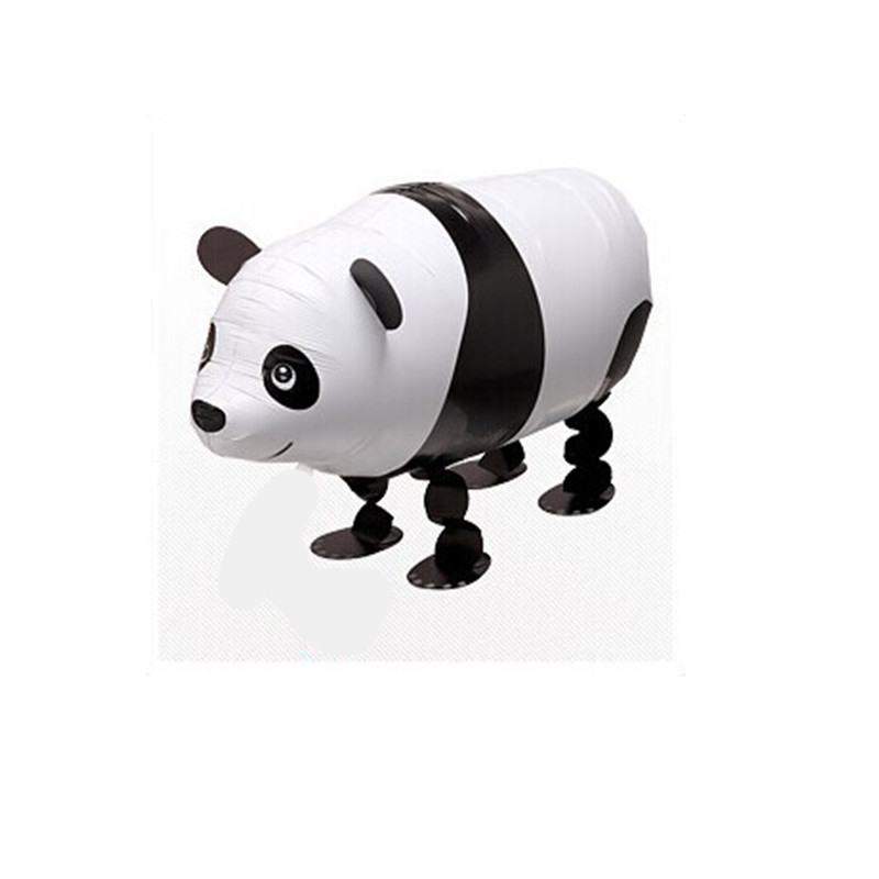 Cute Walking Panda Animal Foil Inflatable Helium Balloons Classic Toys 65*42cm Wedding Decoration Birthday Party Supplies(China (Mainland))