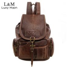 Buy Women Backpack Vintage Backpacks Teenage Girls Fashion Large School Bags High PU Leather Black Bag mochila XA658H for $25.73 in AliExpress store