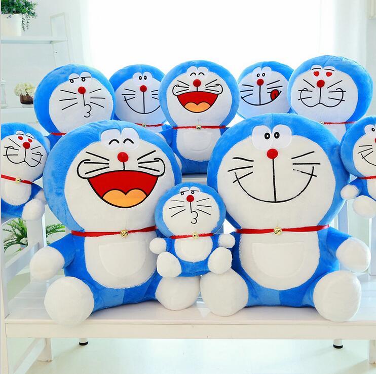 DORAEMON plush toys 25CM PP cotton doll deep blue plush toys doraemon doll Jingle cats doll soft kids birthday christmas toys(China (Mainland))