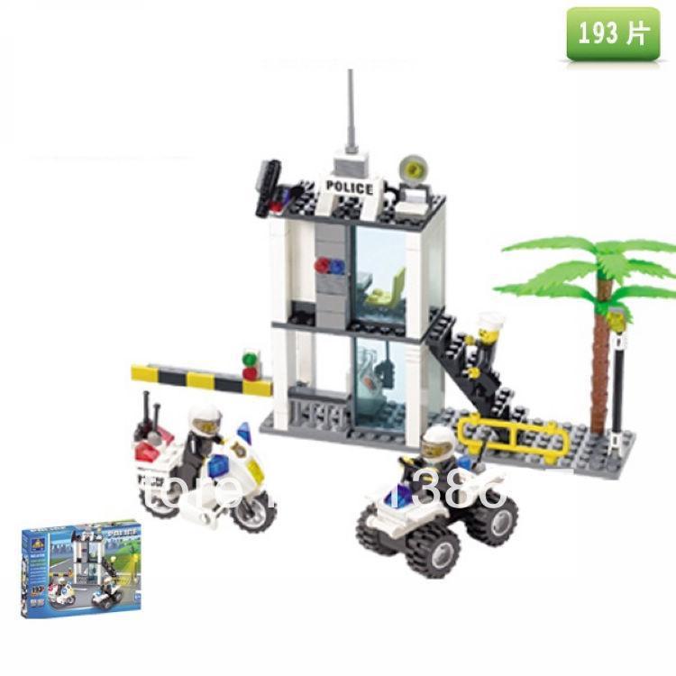 learning & education Kazi 6728 Police posts Building Block Set 19Figures Bricks Boys Toys gift compatible - lalalemon's store