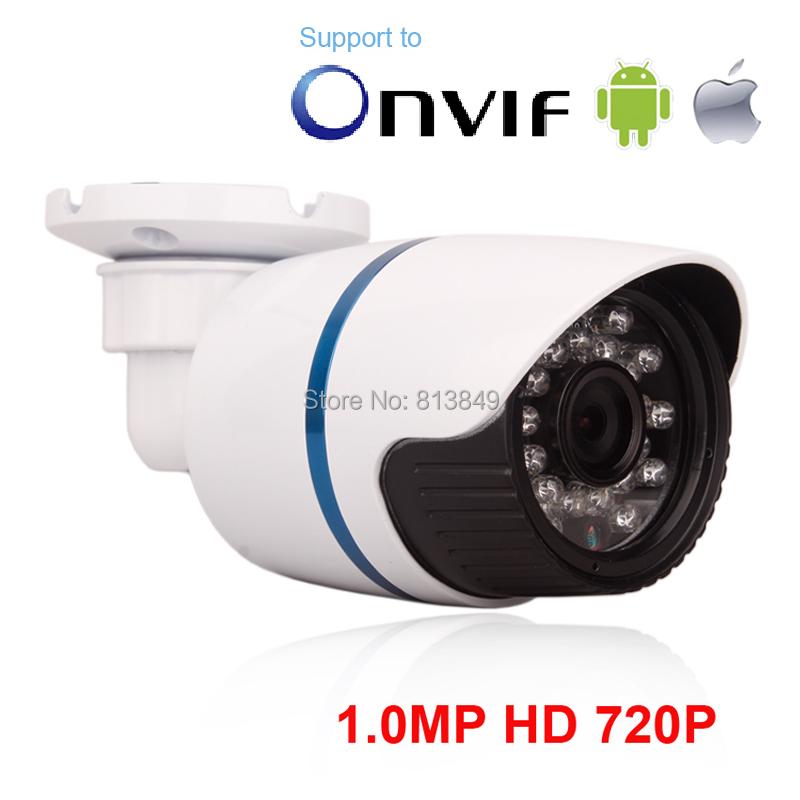 Free shipping top selling H.264 onvif 1MP mega pixel bullet Camera IP camera mini network security system surveillance video(China (Mainland))