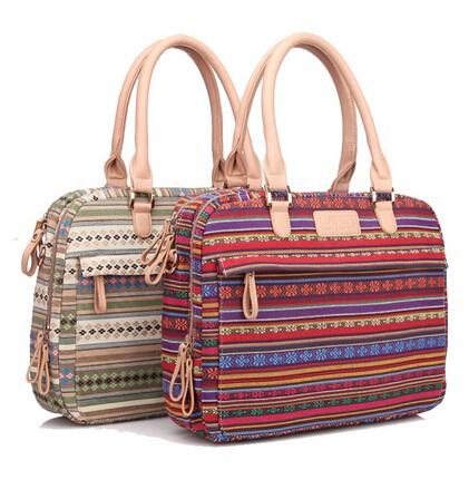 "Pop Fashion National Customs Canvas Ladies Handbag Laptop Bag 14 inch.14.4"",Women Messenger Bag Notebook, For Macbook, Free Ship(China (Mainland))"