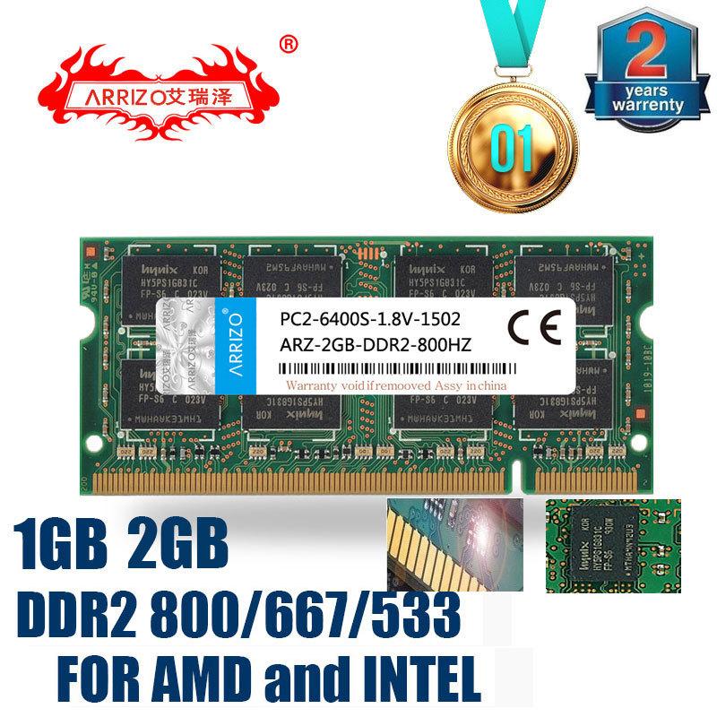 ARRIZO DDR2 800 Mhz/ 667Mhz/ 533Mhz PC2 6400/5300/4200 1GB 1G 2GB 2G for Laptop RAM Memory(China (Mainland))