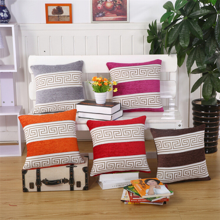 New High Quality Home Decor Polyester Fiber European Classic Striped Pattern Car Sofa Chair Seat Cushion