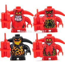 Single Sale Castle Warrior Scurrier With Teeth Angry Faces Minifigures Building Blocks Set Models Mini Figures Bricks Toys