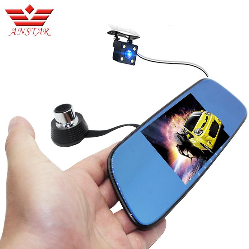 "ANSTAR 5"" Car DVR Camera Dual Lens Rearview Mirror Video Recorder FHD 1080P Automobile DVR Mirror Dash cam night vision(China (Mainland))"