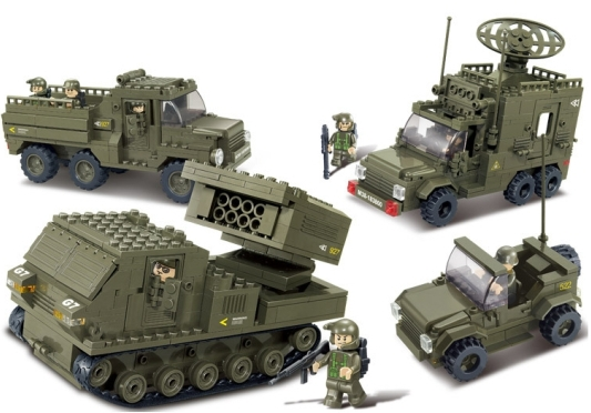 Sluban 865pcs Army Armored Vehicle Building Blocks Set Military Police Soldier Minifigures Christmas gifts Toy Compatible Legoe(China (Mainland))