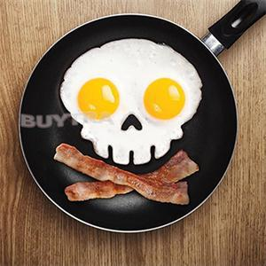 2014 New Practical Egg Tools Funny Skull Egg Mould Side Up Silicone Egg Dividers Breakfast Mold(China (Mainland))