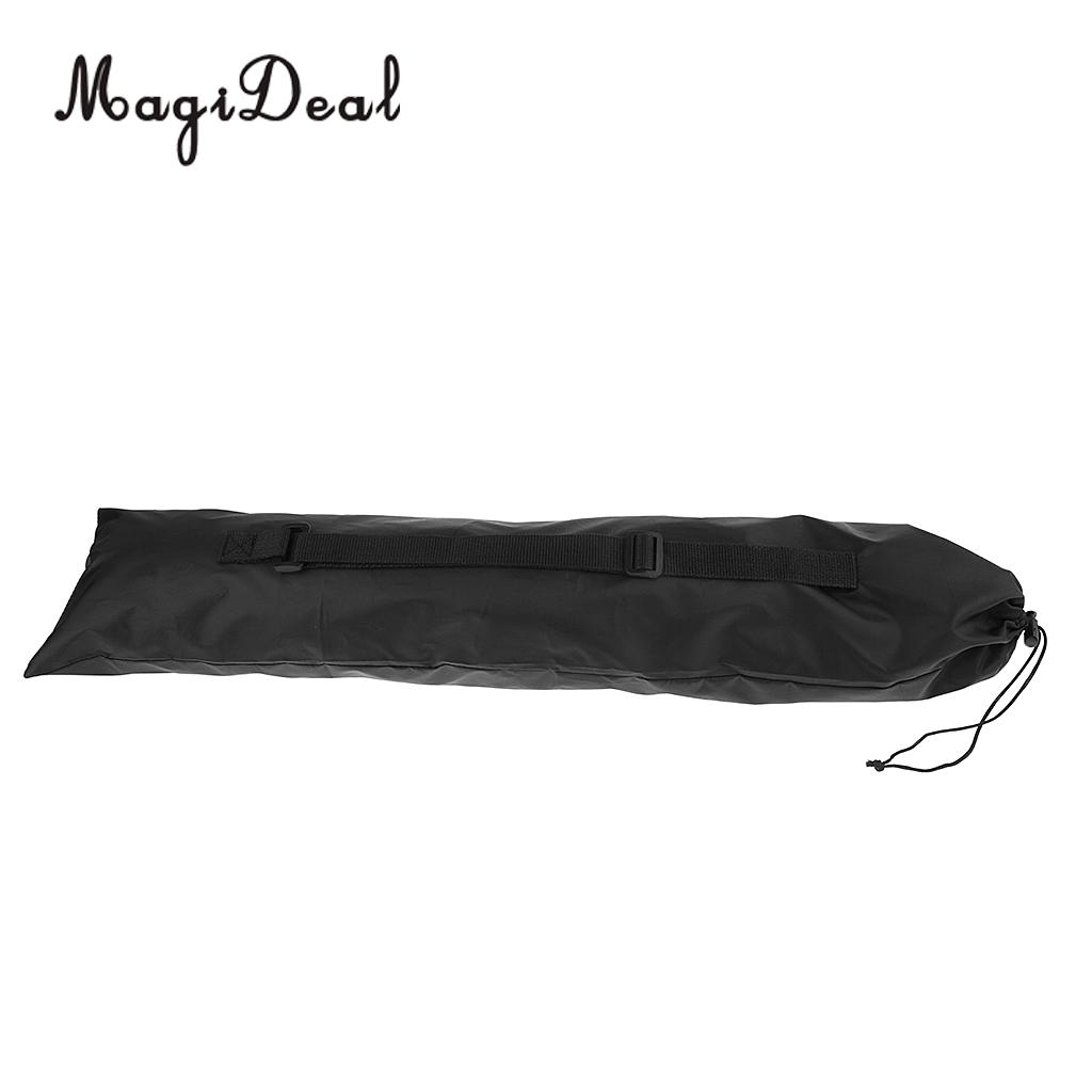 2pcs Foldable Portable Alpenstock Hiking Walking Stick Storage Pouch Carry Bag 71x17.5cm Black