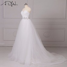 Buy ADLN 2017 Hot Sale A-line Corset Princess Wedding Dresses Beaded Low Back White Ivory Bridal Gowns Vestidos de Novia for $49.98 in AliExpress store