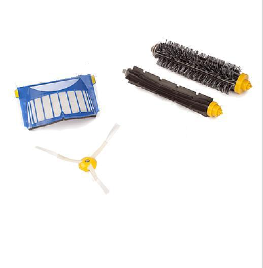 Aerovac Filter+3 Arms Side Brush+Bristle and Flexible Beater Brush for iRobot Roomba 600 610 620 630 650 660(China (Mainland))
