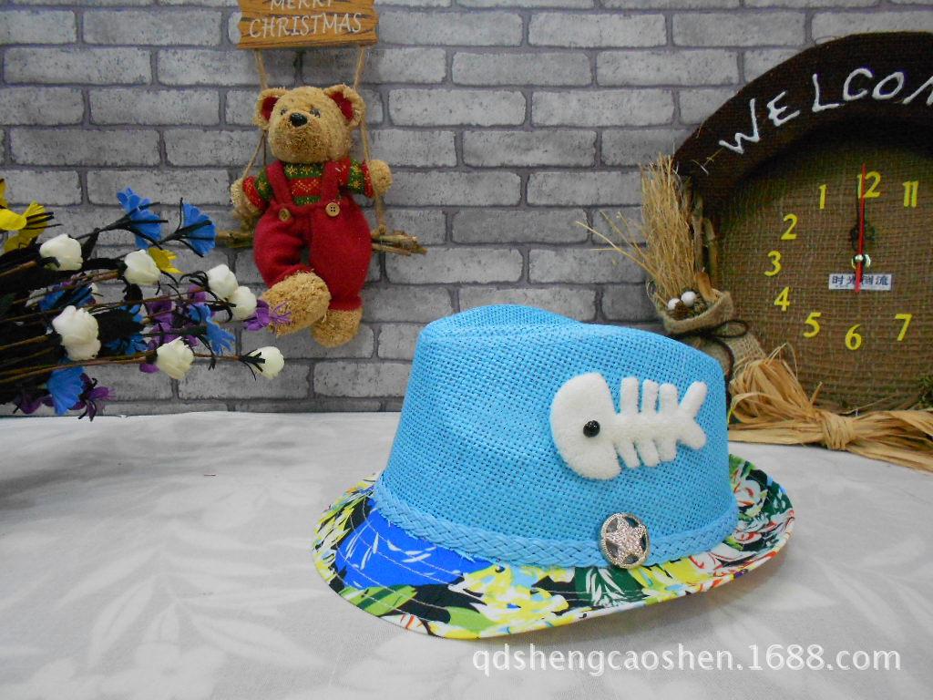 The new summer children's straw hat sunbonnet fine discount wholesale(China (Mainland))