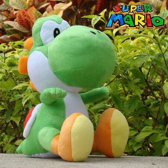30cm NEW Super Mario Plush Doll Figure green running yoshi plush toy super mario toys(China (Mainland))