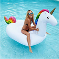 Summer Holiday Inflatable Pool Toy 2 7 1 4 1 2M White Inflatable Unicorn Pegasus Water