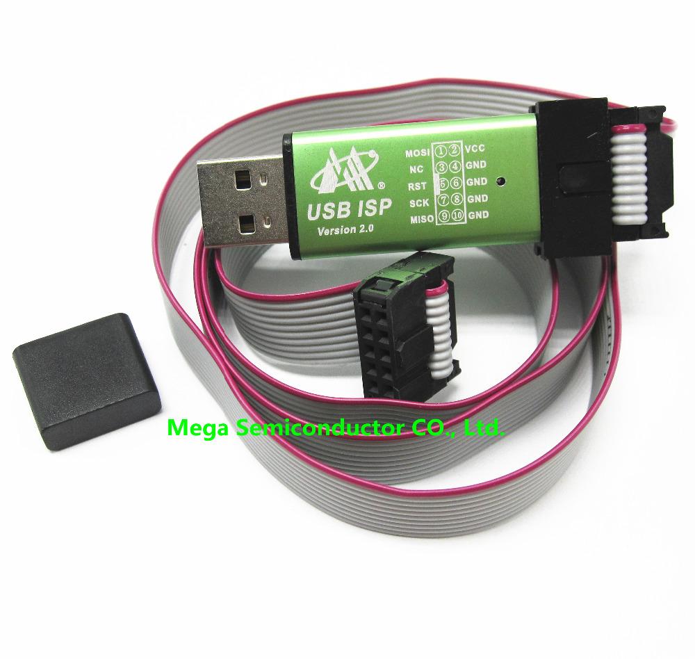1pcs,Free shipping USB ISP USBasp USBisp Programmer for 51 ATMEL AVR download support Win 7(China (Mainland))