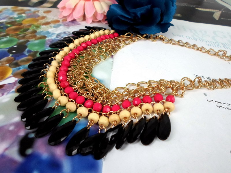Min. order 9usd (mix order) Layered Bohemian Tassels Fringe Drop Vintage Female Choker Chain Necklace Exquisite Accessary(China (Mainland))