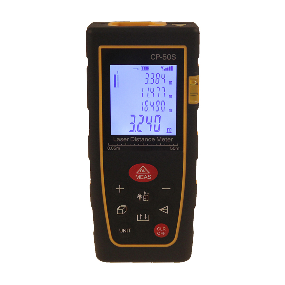 Professional Handheld Portable Laser Distance 50 Meter Range finder area/volume calculator CP-50S(China (Mainland))
