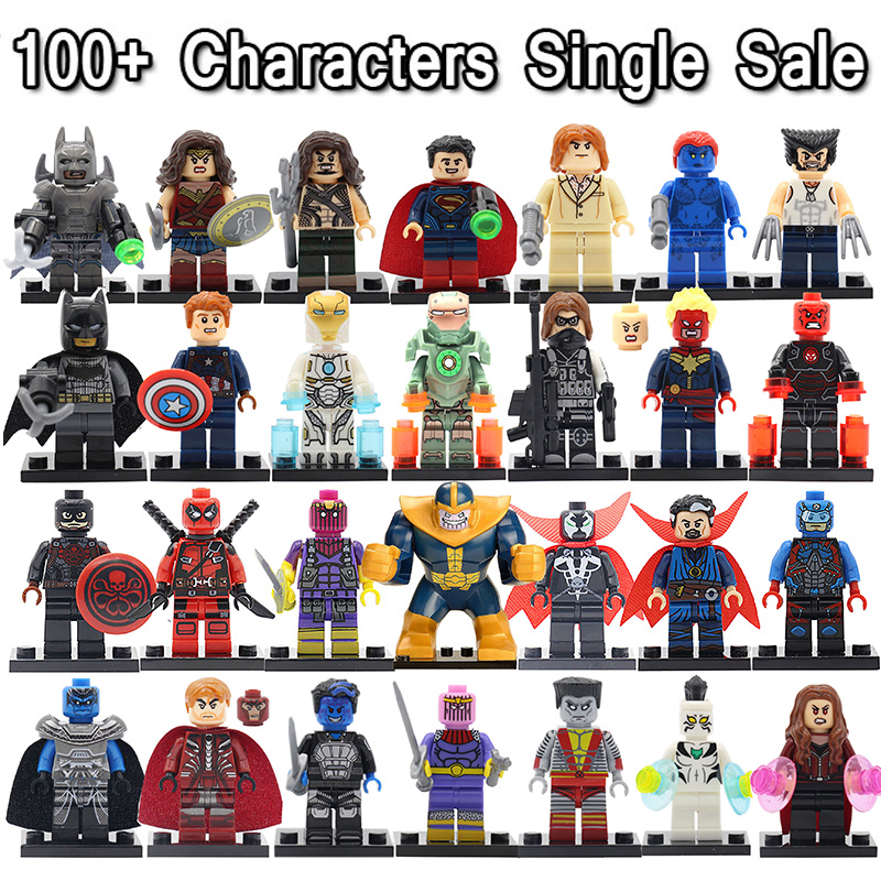 Newest Minifigures For Individually Sale Marvel DC Super Heroes Avengers Batman Iron Man Single Building Blocks Set Model Toys(China (Mainland))