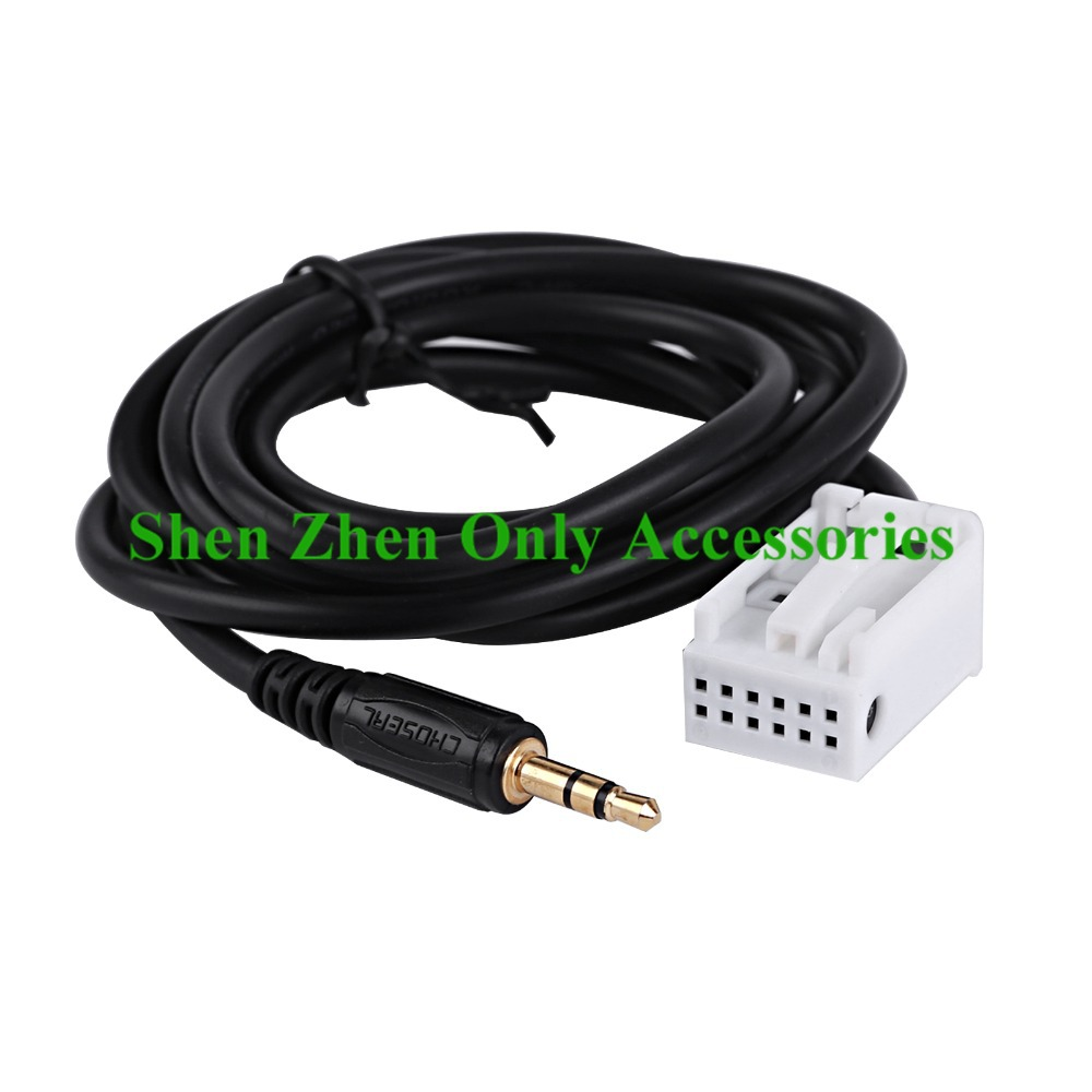 3.5MM Male AUX Connector Audio Cable Adapter For Peugeot 307 308 407 408 507 For Citroen C2 C5 Sega Triumph For iPod For iPhone(China (Mainland))