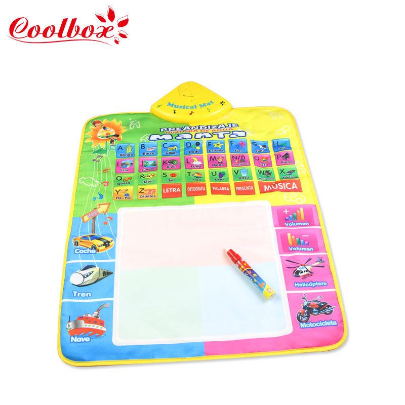 Coolbox CB1329 49.5X68cm Spanish Music Water Doodle Mat /Spanish Play Mat/Drawing Board /Water Mat/aquadoodle mat(China (Mainland))