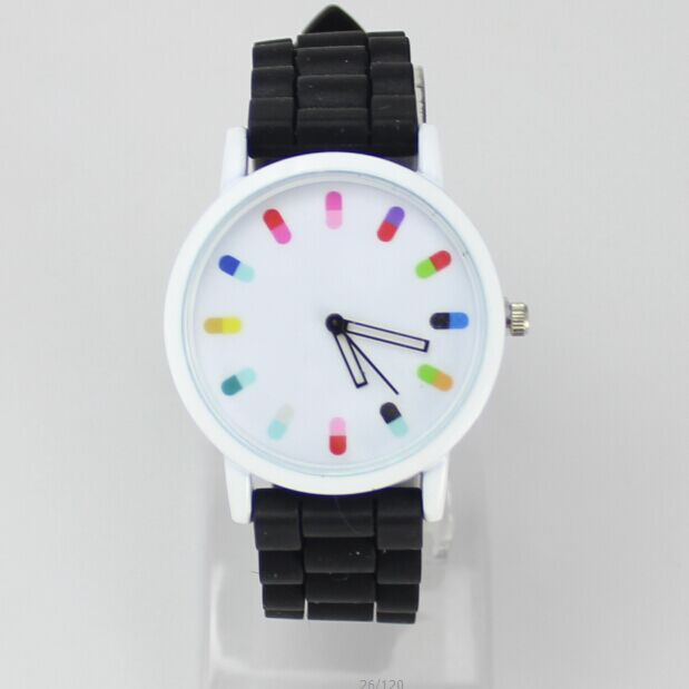 Hot Sale Women Watch 2015 Fashion Geneva Casual Watch Silicone Wristwatch Girls Women Men Quartz Watch