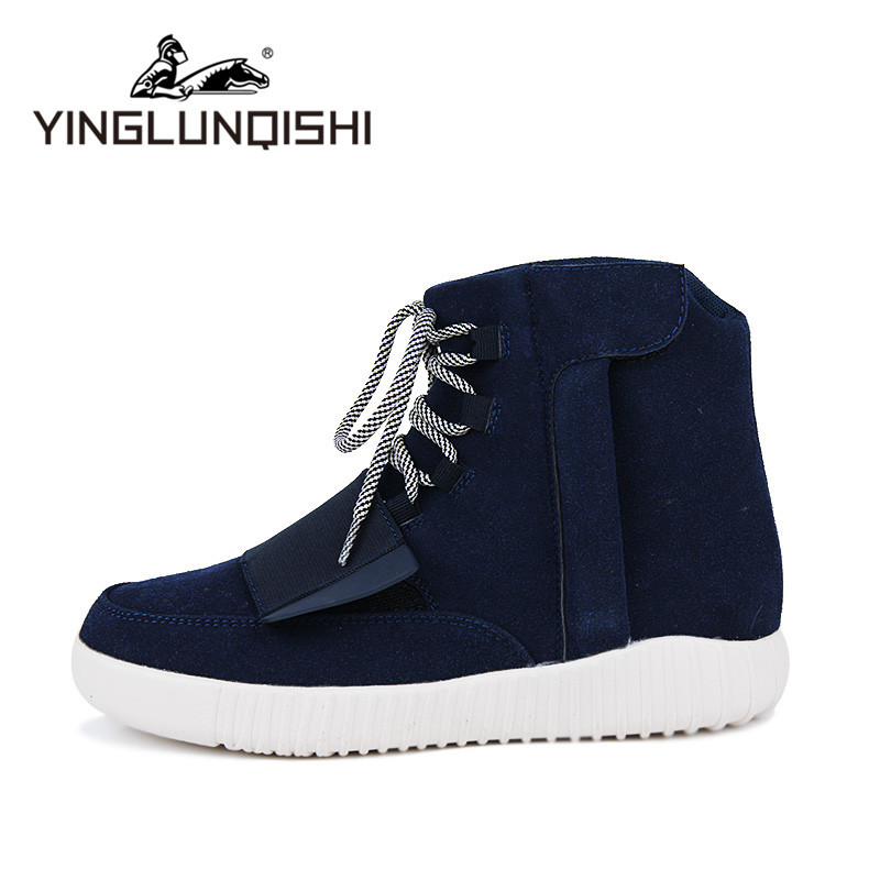 2015 Kanye West Yeezy 750 Winter Men Boots Suede Leather Breathable Men Shoes High Top Sneakers Tenis Masculino Zapatos Hombre(China (Mainland))