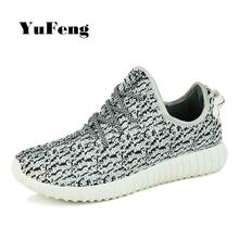Brand Design Men Shoes Zapatillas Deporte Hombres Lace Up Casual Flat Shoes Air Mesh Fashion Sapatilhas Homens Yezzying Shoes(China (Mainland))
