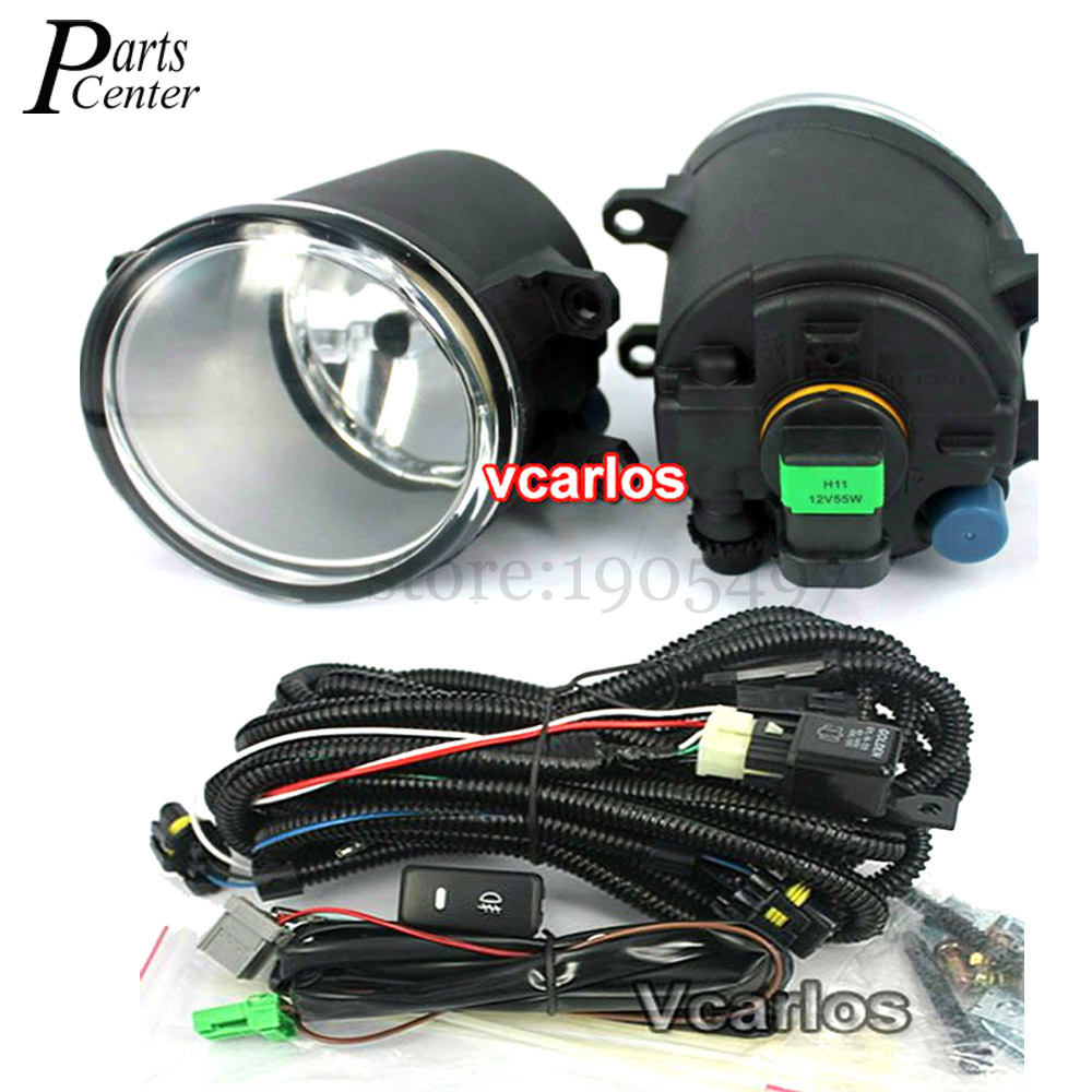 High quality Fog lights Lamp TOYOTA AURIS 2010~ON Clear Lens PAIR SET +Wiring Kit fog light set<br><br>Aliexpress