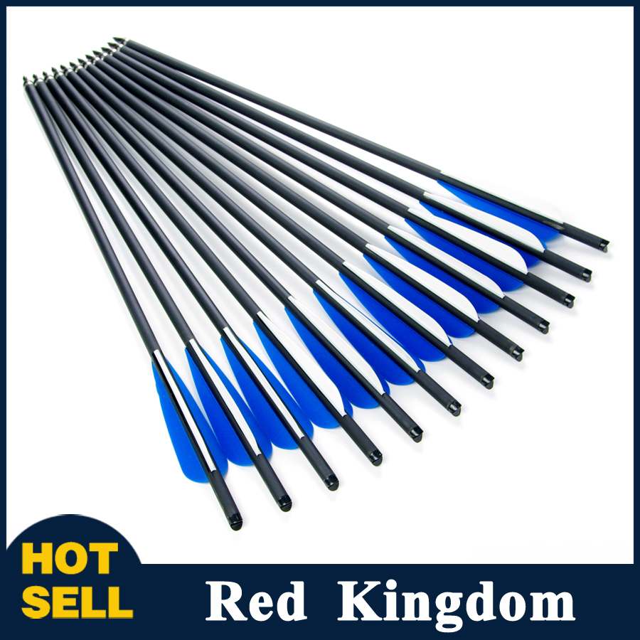 "12pcs/lot Hunting Archery Carbon Arrow 20"" Crossbow Bolts Arrow With 4"" vanes Feather and Replaced Arrowhead/Tip Free Shipping(China (Mainland))"