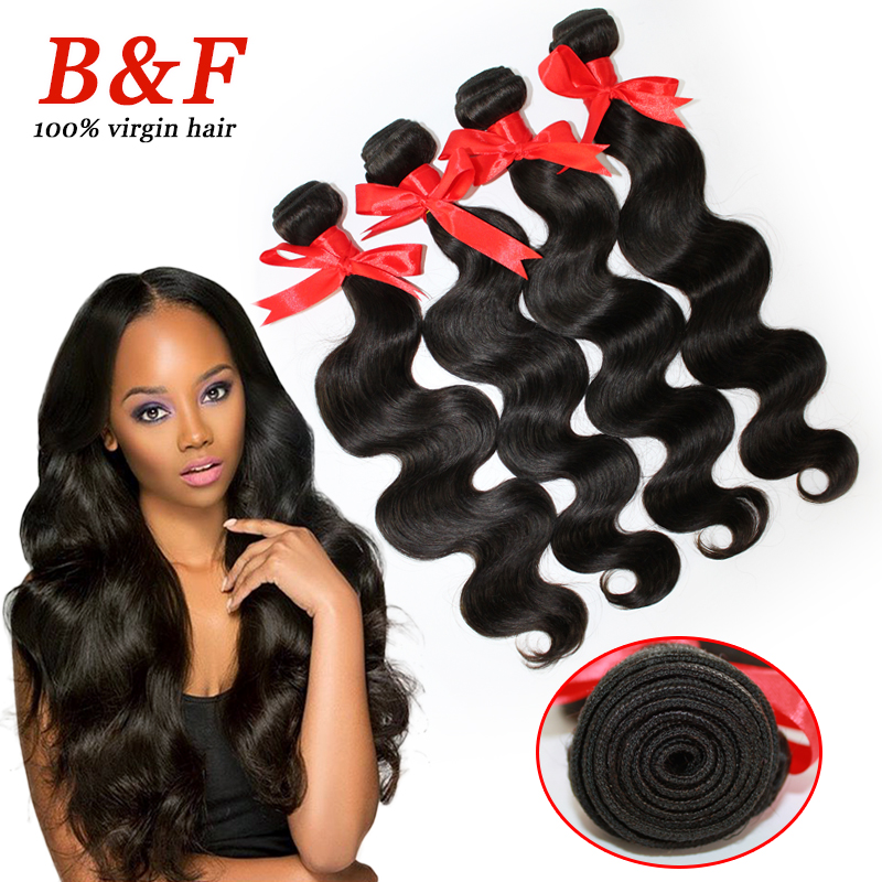 Brazilian hair extension 6A 4 pcs lot,cheap body wave non-procedure,1B,soft no shedding no tangling<br><br>Aliexpress