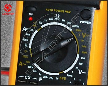 Digital Multimeter AC DC Ohm VOLT Yellow Back Cover Free Shipping Wholesale Test Meter EXCEL DT9205A