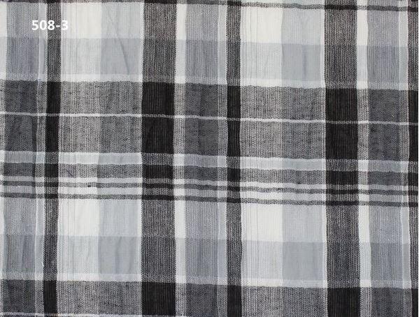 Crinkle Plain Check Fabric washed 99.5% Cotton Yarn-dyed plaid 135 cm 53'' wide 90 gsm shirt skirt plain fabric small wholesale(China (Mainland))