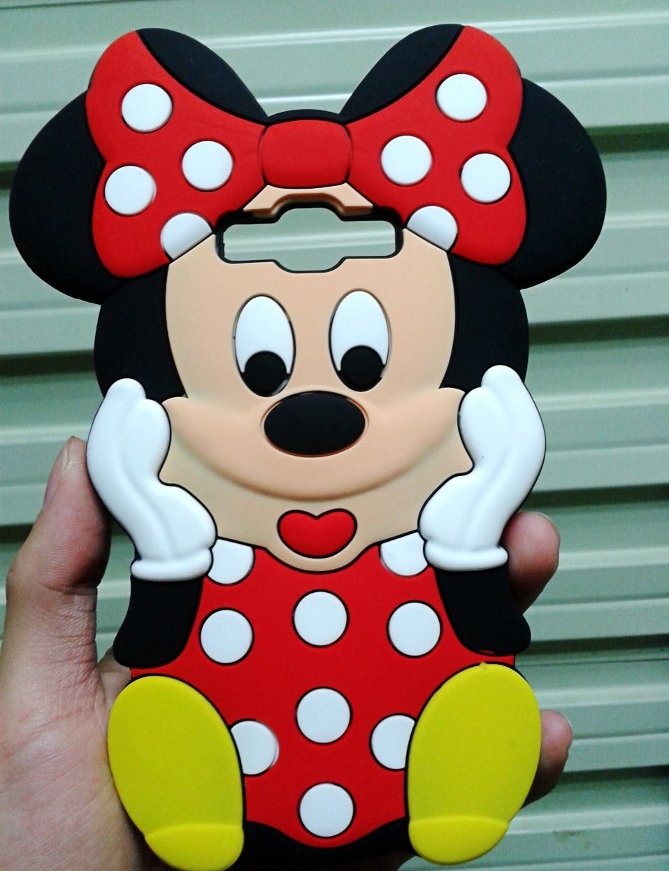 Cute 3D Cartoon Red Bow Minnie Mouse Soft Rubber Silicone Back Cover Case Samsung Galaxy E7 E700 - Made In China Centre store