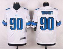 HOT Elite men Detroit Lions Wright Eric Ebron Calvin Johnson Ameer Abdullah Barry Sanders Golden Tate Marvin Jones D-4()