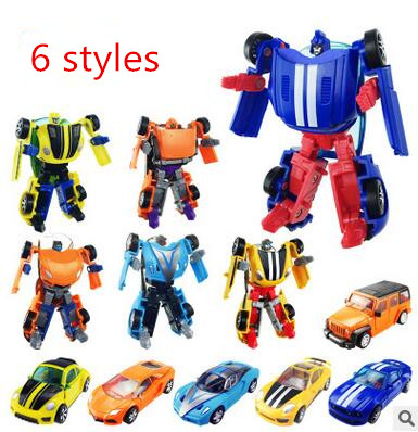 Super Cool Cars Transformation Plastic Robots Minifigures Action Figure Toy Children Birthday Gifts Brinquedos New Arrival(China (Mainland))