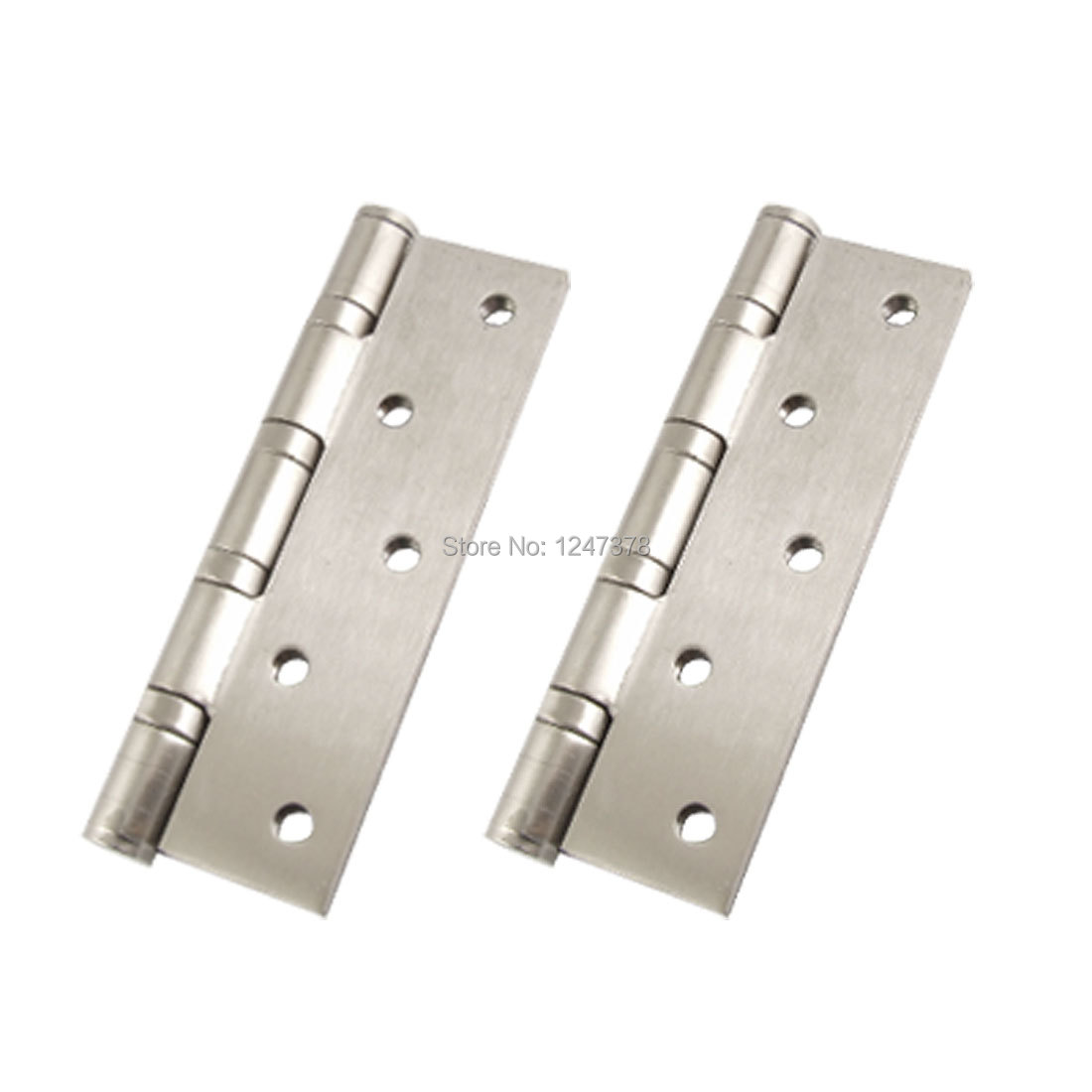 "Satin Nickel 5"" Window Screw Installing Door Hinges 2 Pcs/lot(China (Mainland))"
