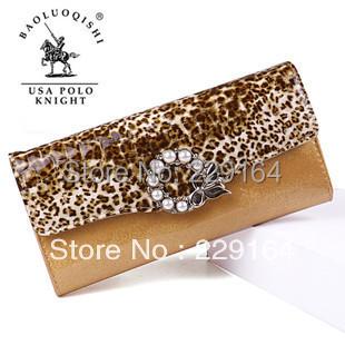 2016 Women Clutch Bolsas Femininas Clutch Purses Long Women's Wallet Paul Knights of The Genuine Leather Female Pearl Bag