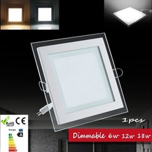 1pcs Dimmable led panel light LED Ceiling Recessed Light AC85-265V LED Downlight  SMD 5730 6W12W 18W Warm/Cool  Indoor lighting(China (Mainland))