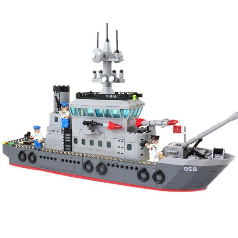 Здесь можно купить  building block Compatible With Lego military convoy 614pcs/ABS plastic military ship model 820 toy  Игрушки и Хобби