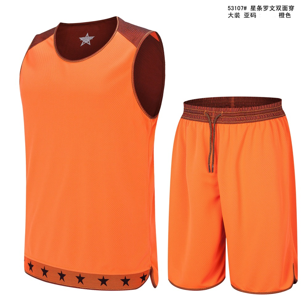 2016 Double-sides Wearing Breathable Basketball Jersey Sport vest Training Jersey Gym Jerseys reversible basketball suits sets(China (Mainland))