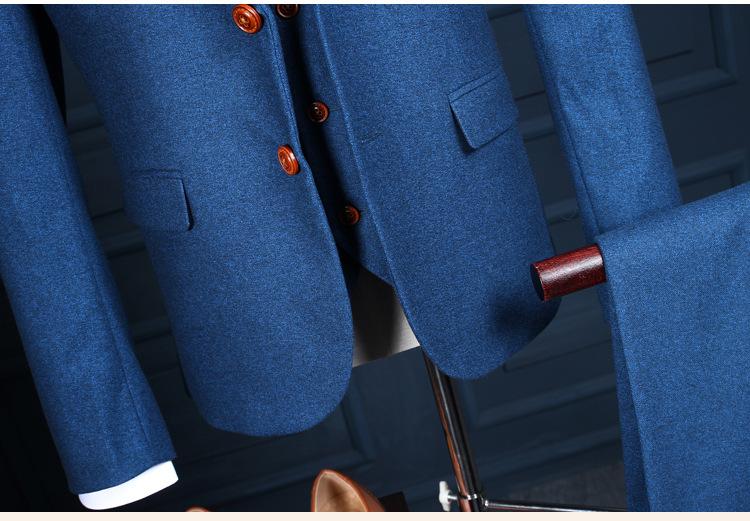HTB1110uQXXXXXb3apXXq6xXFXXXP - La MaxPa (jacket+pants+vest) New fashion men suit spring autumn blue suits casual slim fit prom groom party man wedding suit