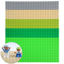 1pc Big Blocks Base Plate 32*16 Dots 51*25.5cm Plastic building blocks Baseplate For Figures & Big Bricks DIY Toys Gift 5 Colors(China (Mainland))