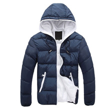 Winter Men Jacket 2015 Outdoor Hooded Mens Winter Jackets And Coats Zipper Slim Fit Windbreaker Mens Clothing