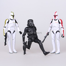 3pcs/lot Star Wars toys The Force Awakens BB8 BB-8 Droid Robot Action Figure stormtrooper Clone Trooper  Figure New year toys